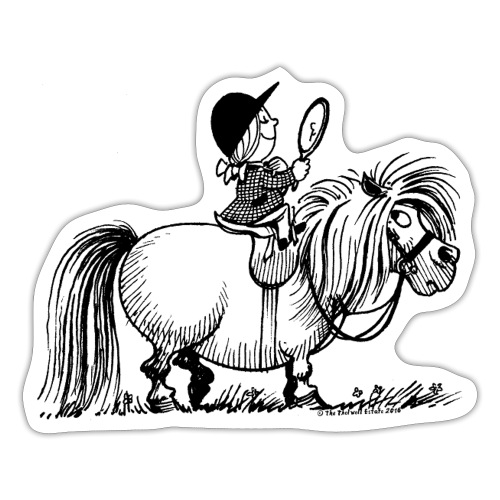 Thelwell - Penelope with a mirror - Sticker
