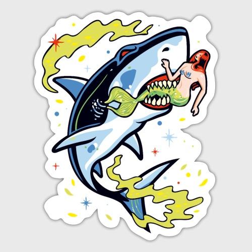 Requin mangeur de sirène - Autocollant