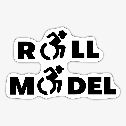 Rolstoel roll model 003 - Sticker