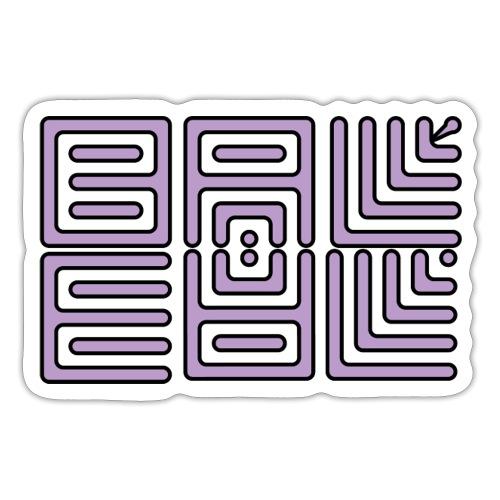 Wa-Dee-Ba Purple Naked Edition - Autocollant