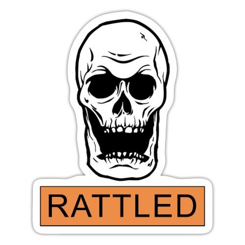 Rattled Spooky Halloween Skeleton Meme - Sticker