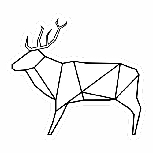 Wired deer - Sticker