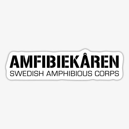 Amfibiekåren -Swedish Amphibious Corps - Klistermärke