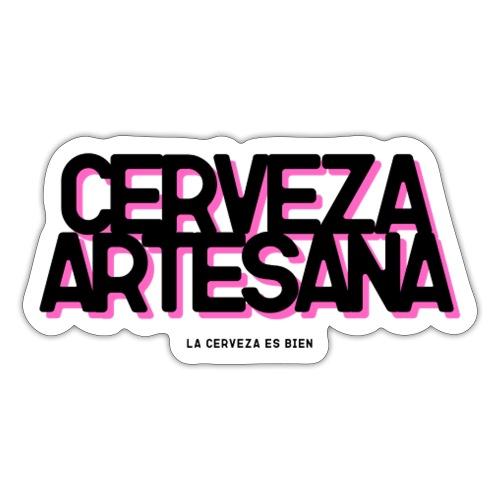 Cerveza Artesana Negra y Rosa - Pegatina