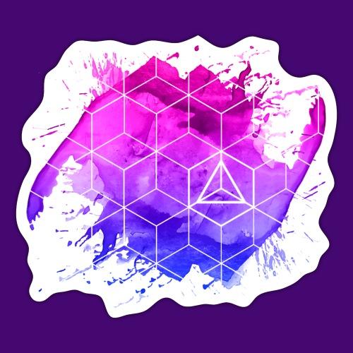 Purple space - Sticker