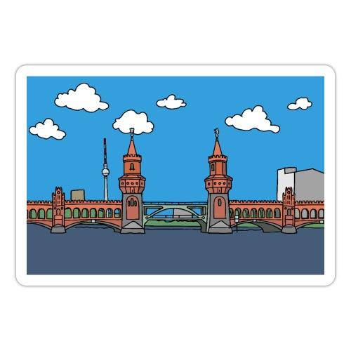 Plakat Oberbaumbrücke in Berlin - Naklejka