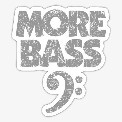 More Bass (Vintage/Grau) Bassisten - Sticker