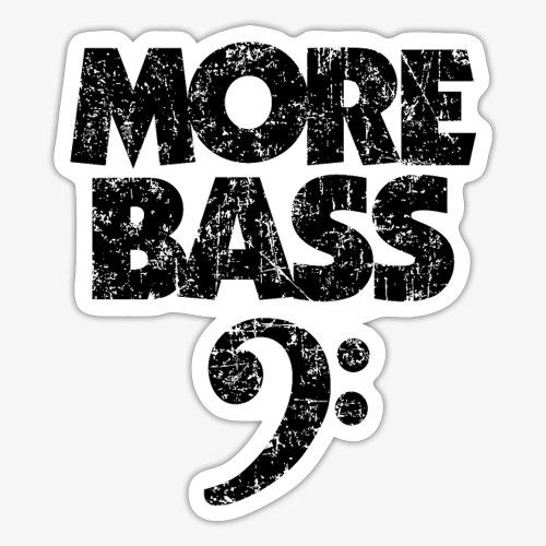 More Bass (Vintage/Schwarz) Bassisten - Sticker