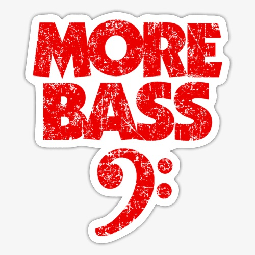 More Bass (Vintage/Rot) Bassisten - Sticker