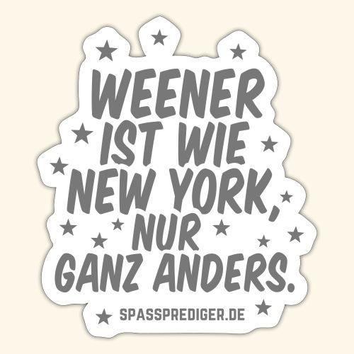Weener T-Shirt Weener ist wie New York - Sticker
