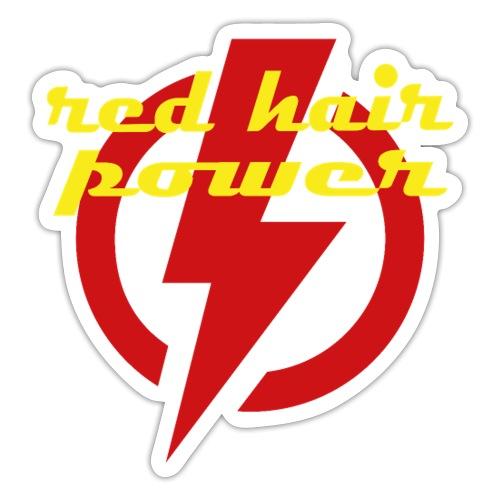 Red Hair Power, de kracht van rood haar - Sticker