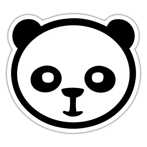 Panda, Giant Panda, Giant Panda, Bamboo Bear - Naklejka
