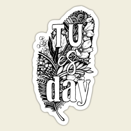 Tu-es-day - white - Sticker