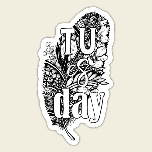 Tu-es-day - white - Sticker