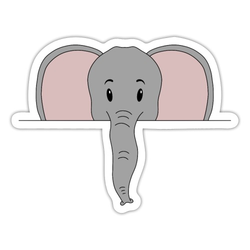 Elefant Marvin - Sticker