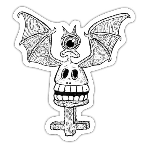 The Bat Skull - Autocollant