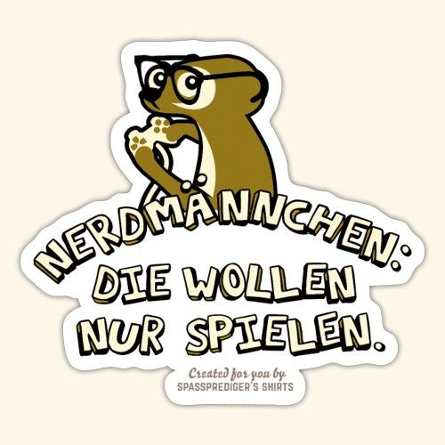 Nerdmännchen Erdmännchen Design für Geeks & Nerds - Sticker