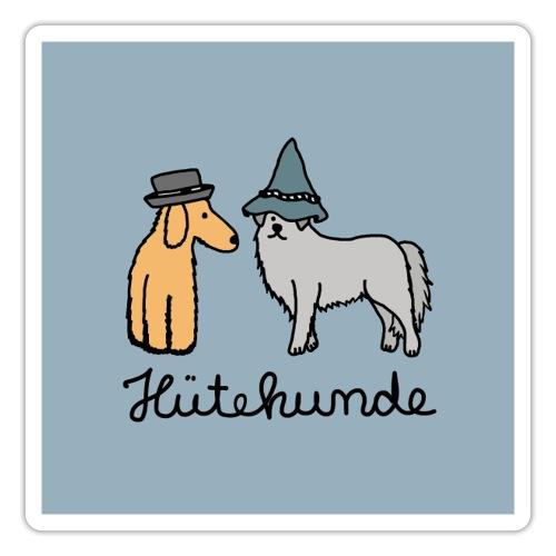 Hütehunde Poster - Hunde mit Hut - Sticker