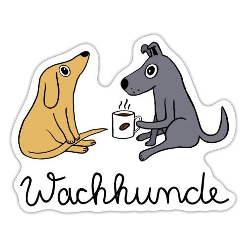 Wachhunde - Nur wach mit Kaffee - Sticker