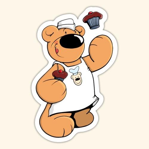 Der Bäcker Bär backt leckere Muffins - Sticker