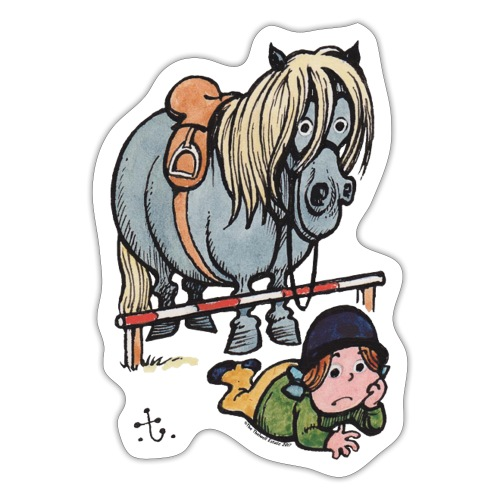 Thelwell Funny Showjumping Gone Wrong - Sticker