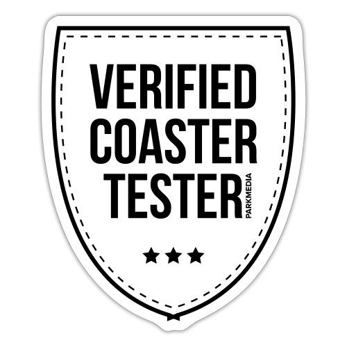Badge de testeur de montagnes russes vérifié - Autocollant