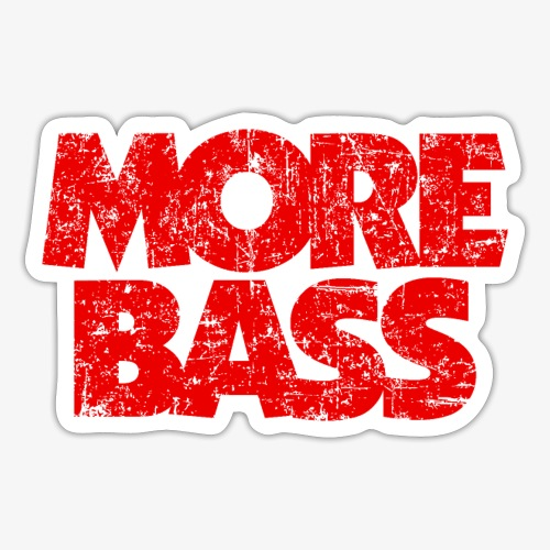 More Bass (Vintage/Rot) Bassist Bassisten - Sticker