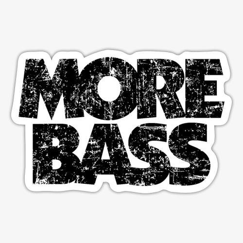 More Bass (Vintage/Schwarz) Bassist Bassisten - Sticker