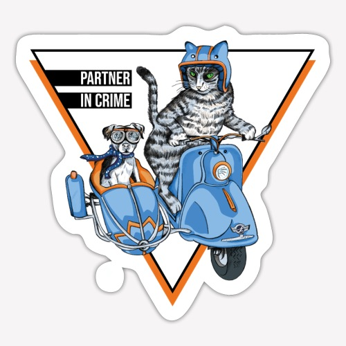 Partner in Crime - Cat & Dog - Sticker