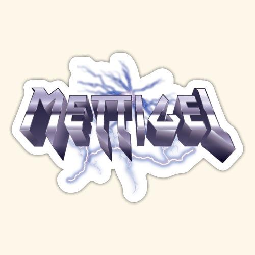 Mettigel T Shirt Design Heavy Metal Schriftzug - Sticker