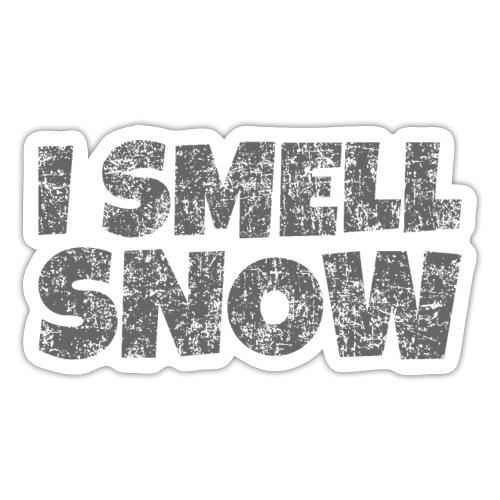I Smell Snow (Dunkelgrau) Schnee, Wintersport, Ski - Sticker