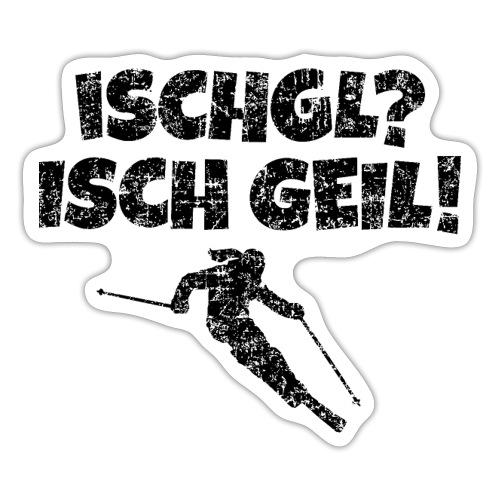 Ischgl Isch Geil Skifahrerin (Schwarz) Apres-Ski - Sticker