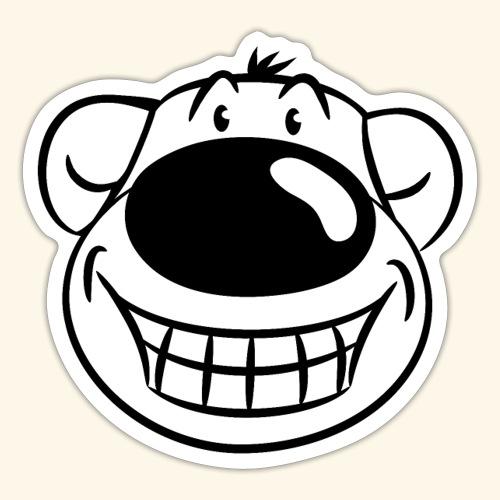 Bär grinst frech - Sticker