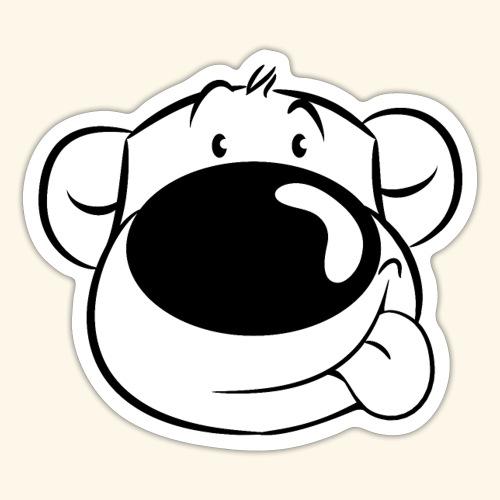 Bär streckt die Zunge raus - Sticker