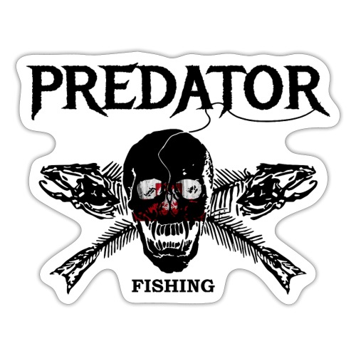 predator fishing polen - Sticker