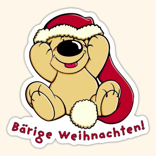 Bärige Weihnachten - Sticker