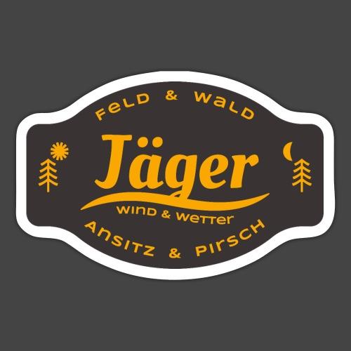 Das Jäger-Shirt für aktive Jäger - Sticker