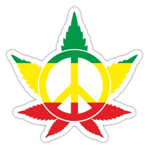 Peace färbig - Sticker