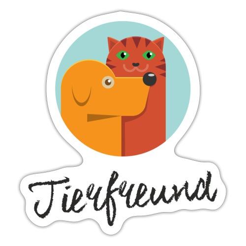Tierfreund mit Schriftzug - Sticker