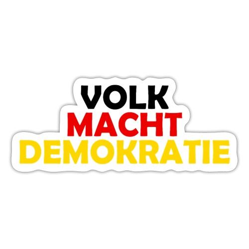 VOLK MACHT DEMOKRATIE - Sticker