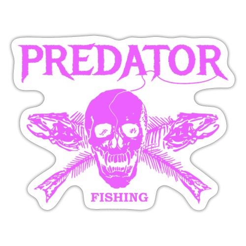Predator fishing pink - Sticker
