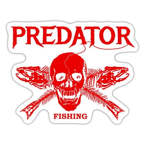 Predator fishing red - Sticker