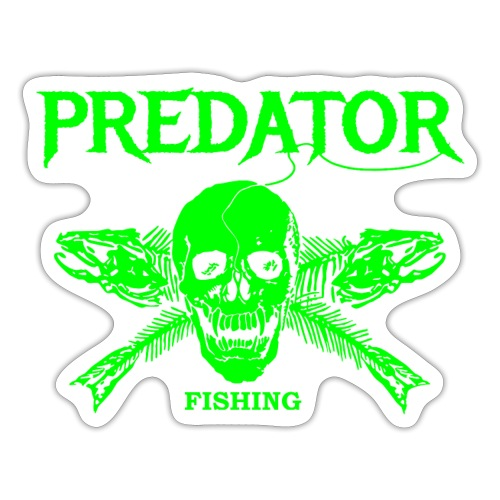 Predator fishing green - Sticker