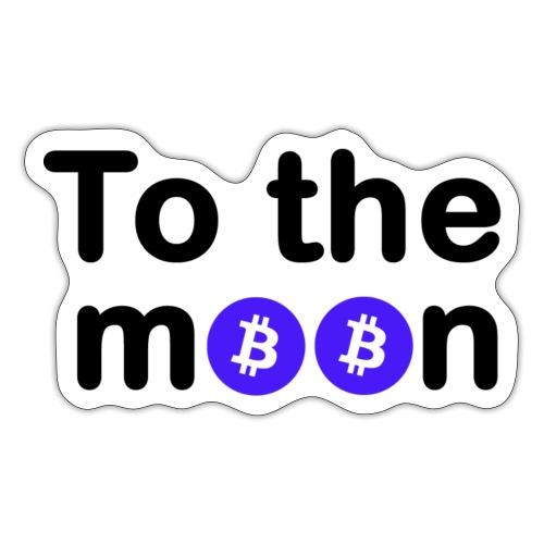 To the moon bleu - Autocollant