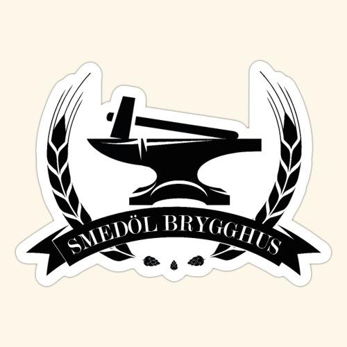 Smedöl Brygghus Logga Svart - Klistermärke