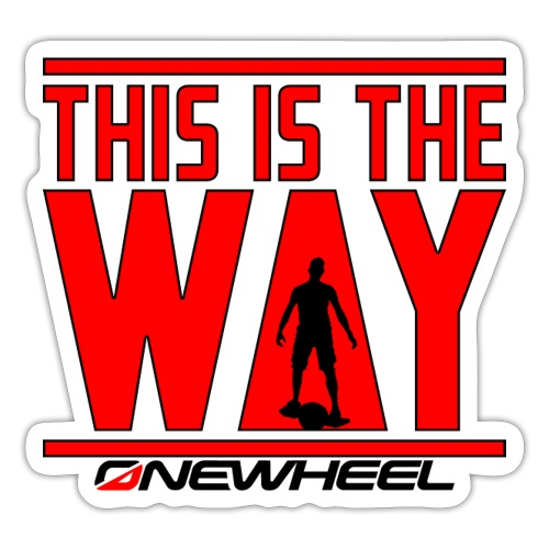 This Is The Red Way - Sticker