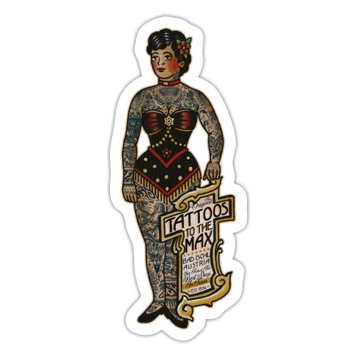 VintageTattooed Lady Tattoos to the Max - Sticker