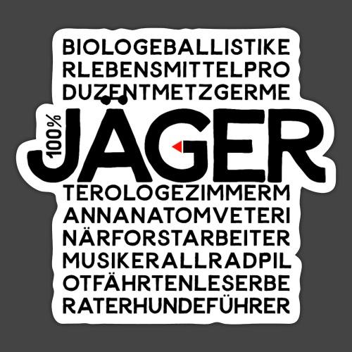 100 Prozent Jäger-Shirt Original Jagawams - Sticker