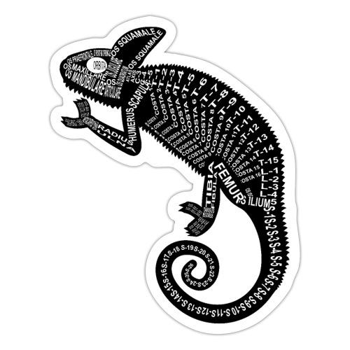 Chameleon Skeleton - Sticker