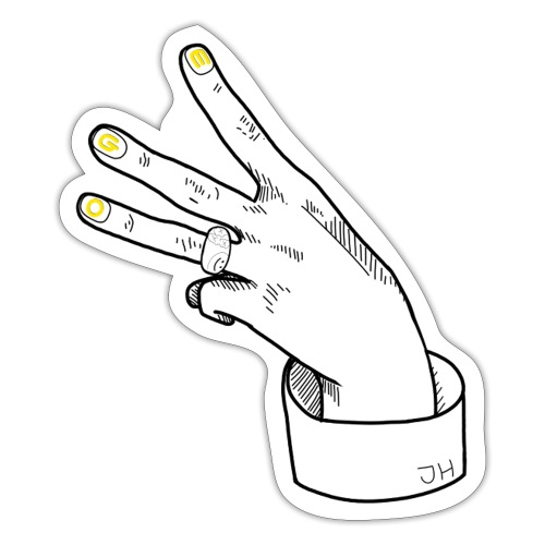 JH Hand EGO - Black&Yellow - Sticker